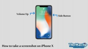 Taking a screenshot on iPhone X